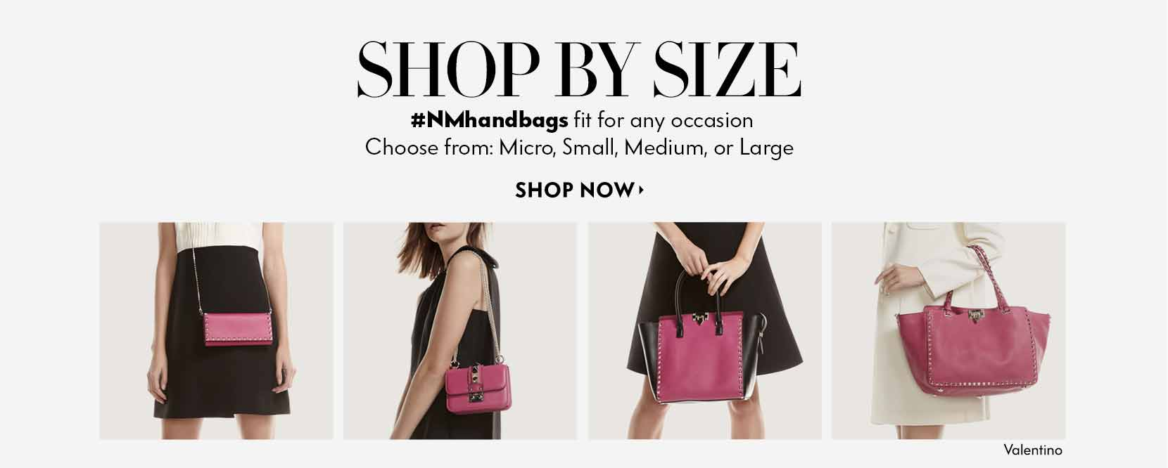 Shop Handbags by Size