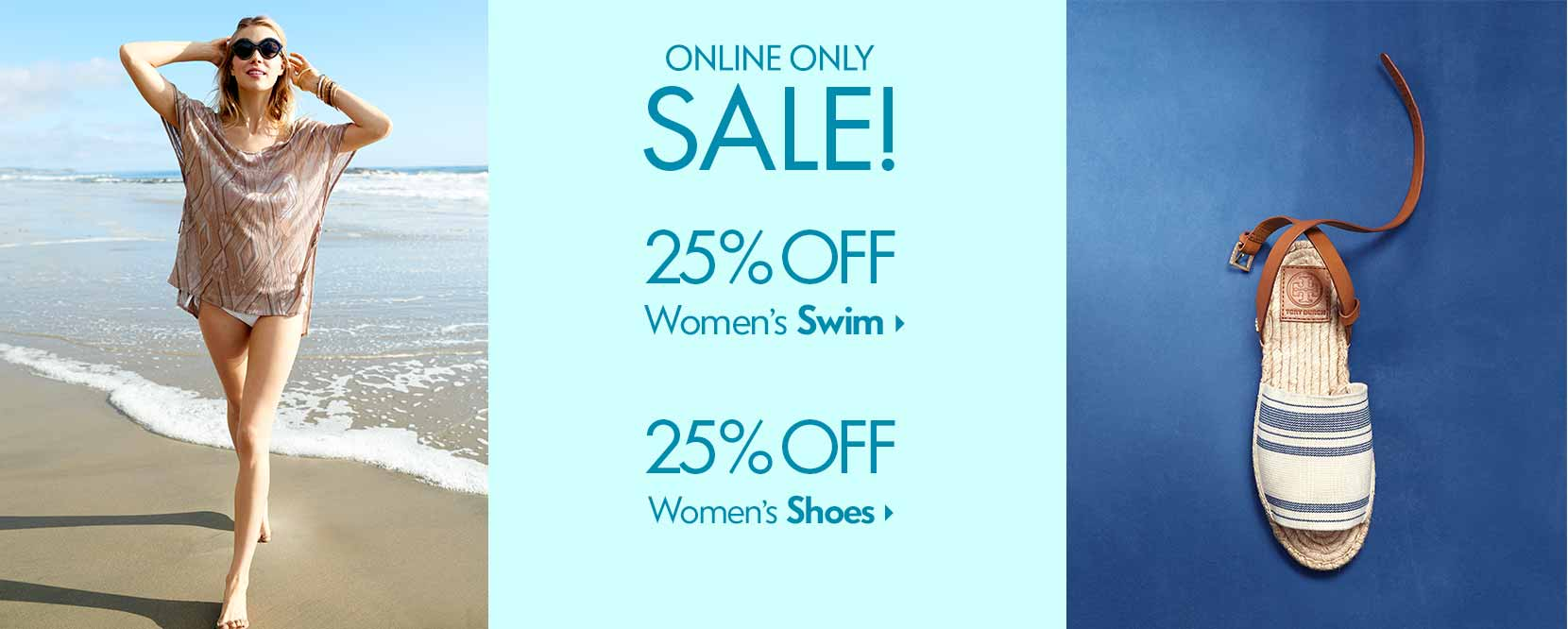Swim Sale + Shoe Sale