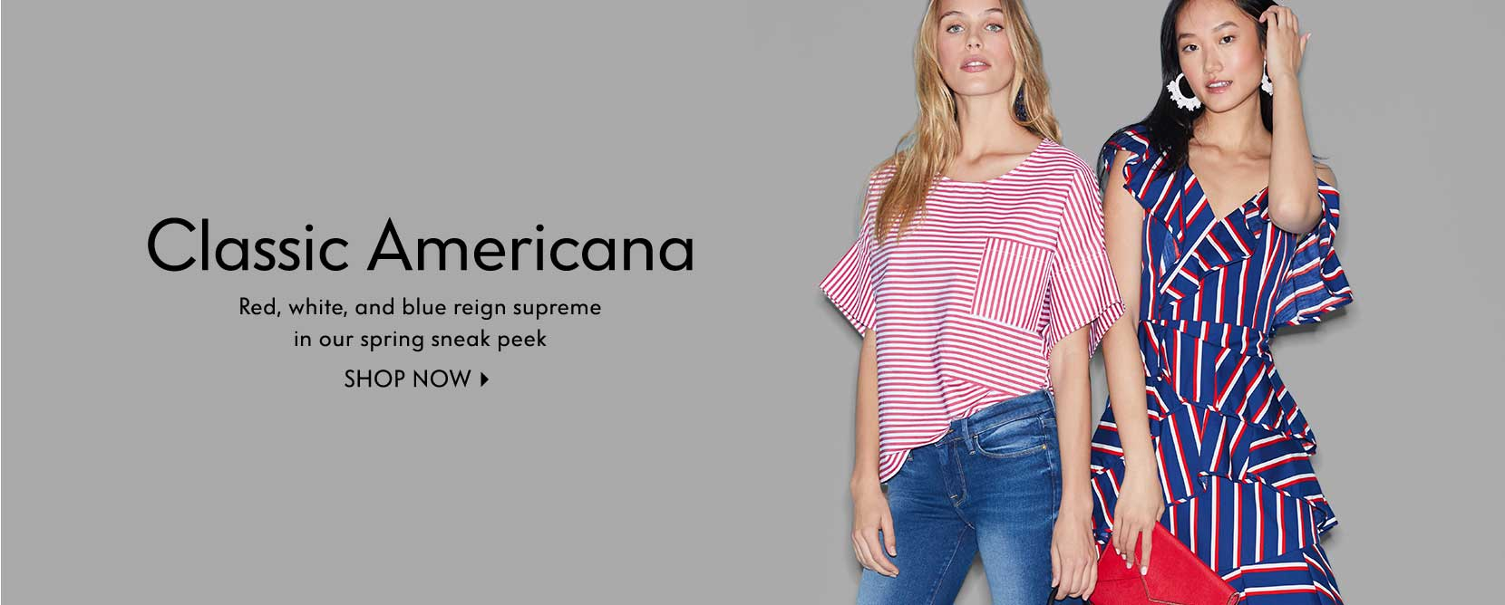 Classic Americana - Red, white, and blue reign supreme in our spring sneak peek