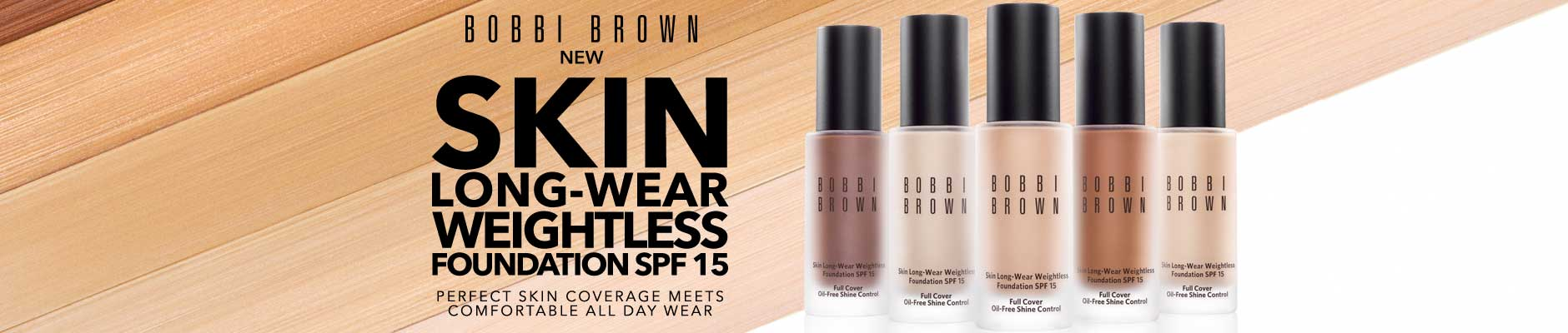 Bobbi Brown: New Skin Long-Wear Weightless Foundation SPF 15 - Perfect Skin Coverage Meets Comfortable All Day Wear