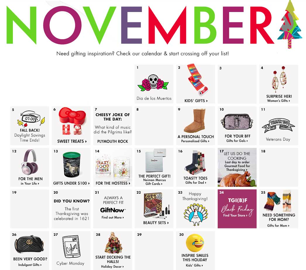 November - See what's on the CUSP fashion calendar this month