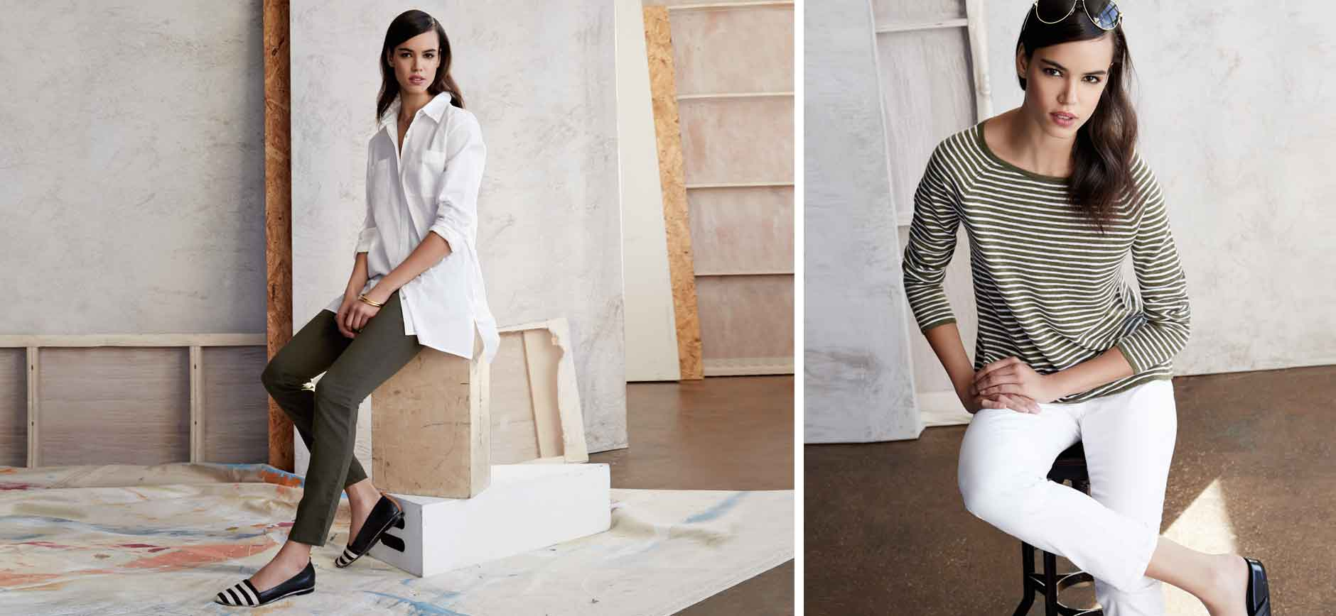Eileen Fisher Denim Stripes Lookbook