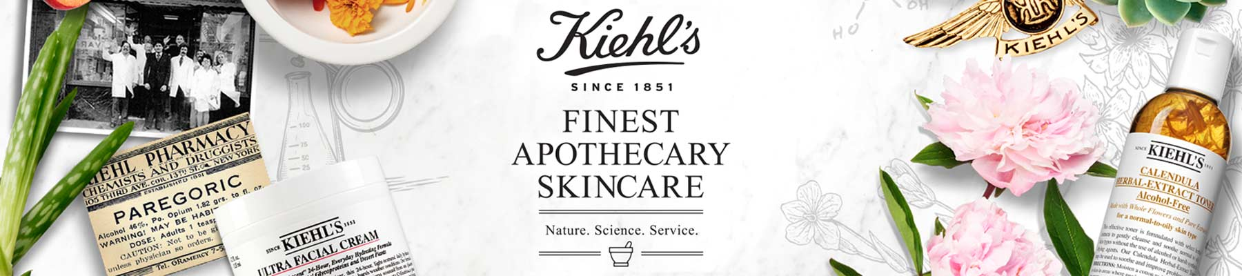 Kiehl's Since 1851: Finest apothecary skincare, nature. science. service.