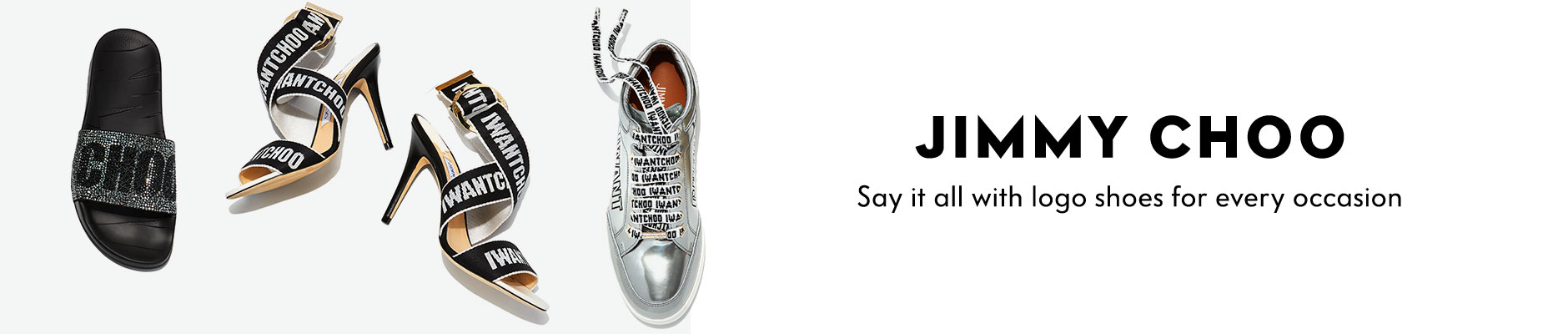 Jimmy Choo - Say it all with logo shoes for every occasion