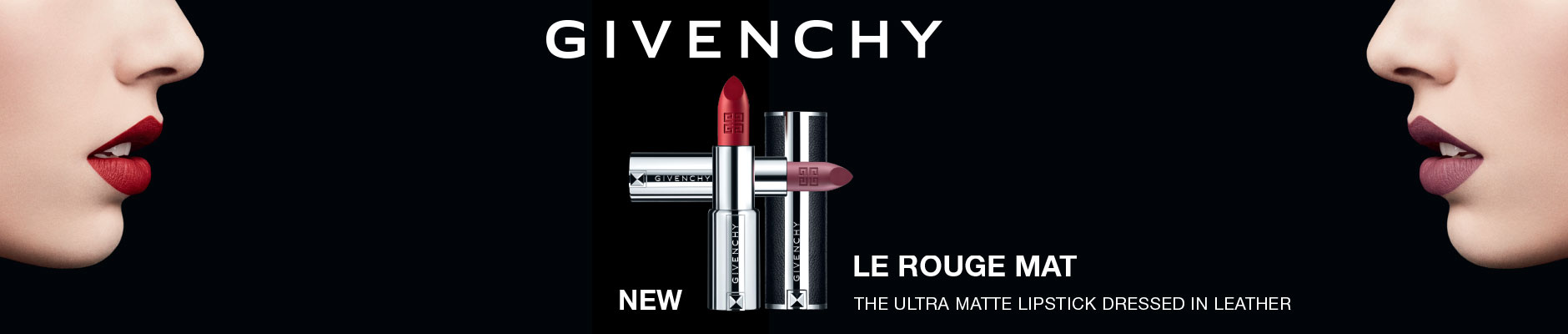 Givenchy new la rouge mat, the ultra matte lipstick dressed in leather