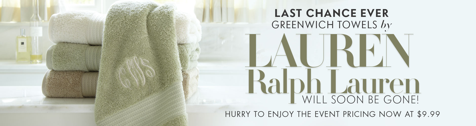 $9.99 Greenwich Towels by LAUREN Ralph Lauren