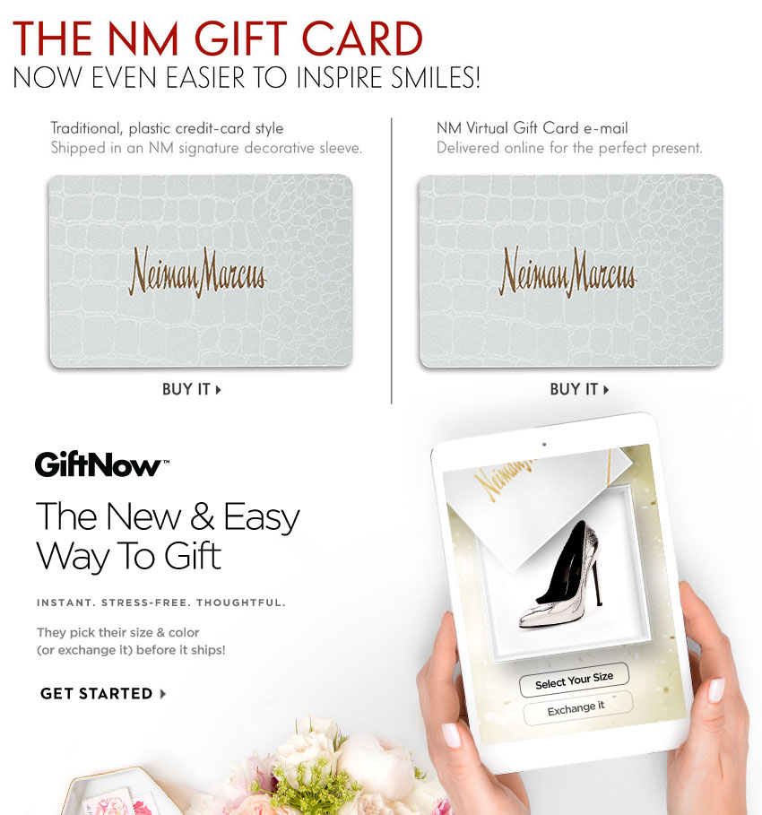 The NM Gift Card - Now Even Easier To Inspire Smiles!