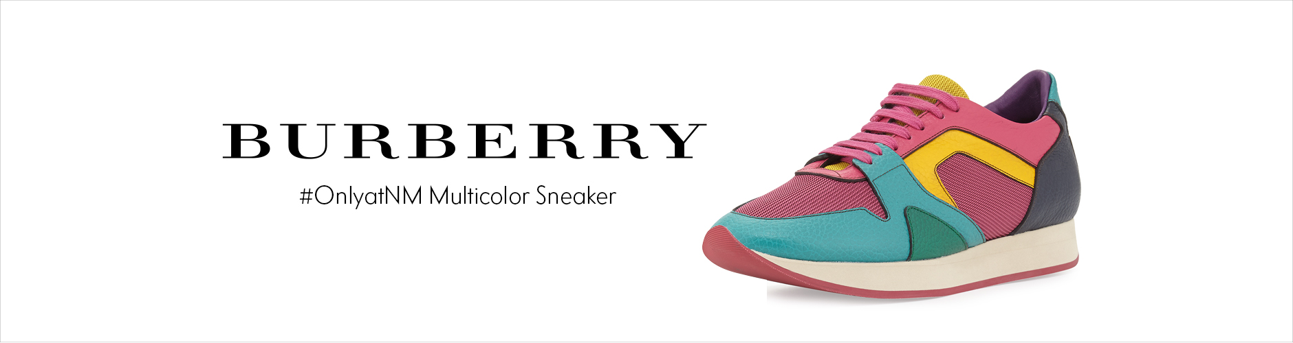Burberry: NM Exclusive Multicolor Sneaker