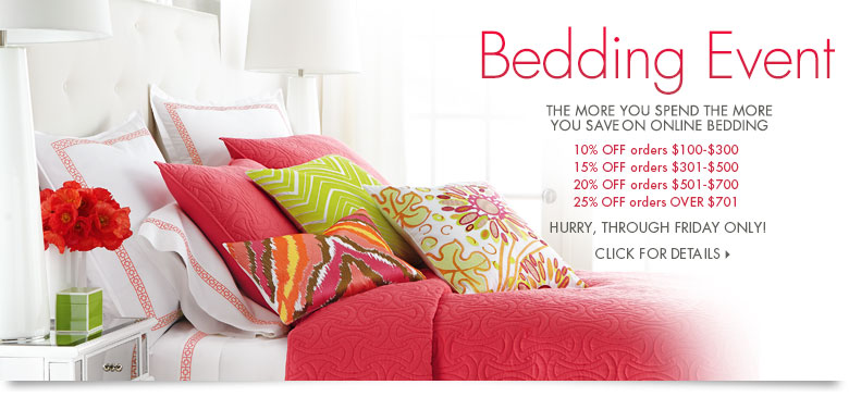 Bedding Event: Take up to 25% Off!