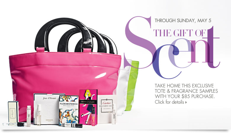 The Gift of Scent: Tote & samples with purchase