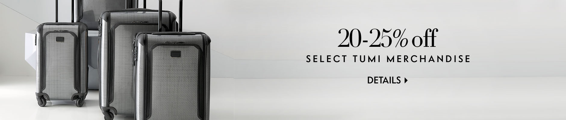 20%-25% off select Tumi merchandise