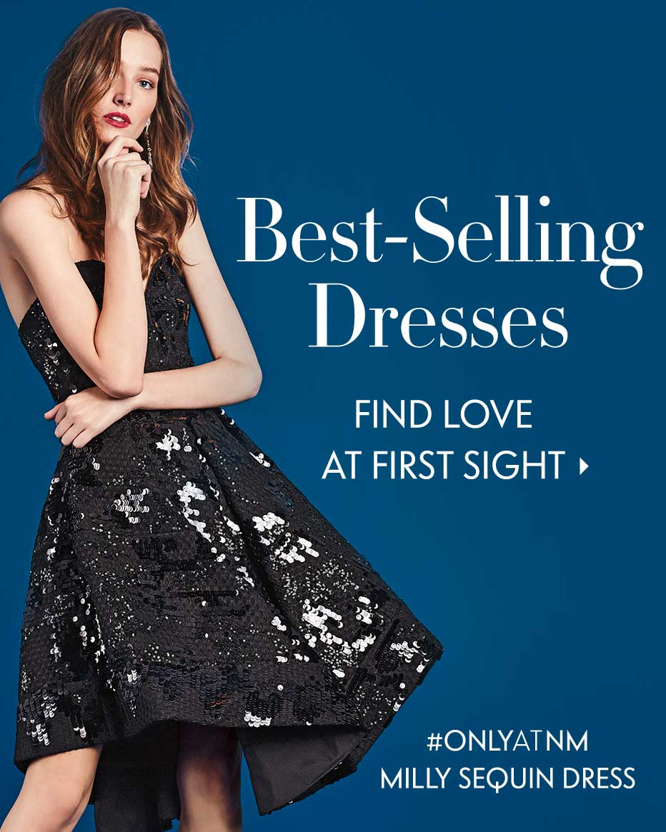 Best-Selling Dresses: Find Love At First Sight - #ONLYATNM Milly Sequin Dress