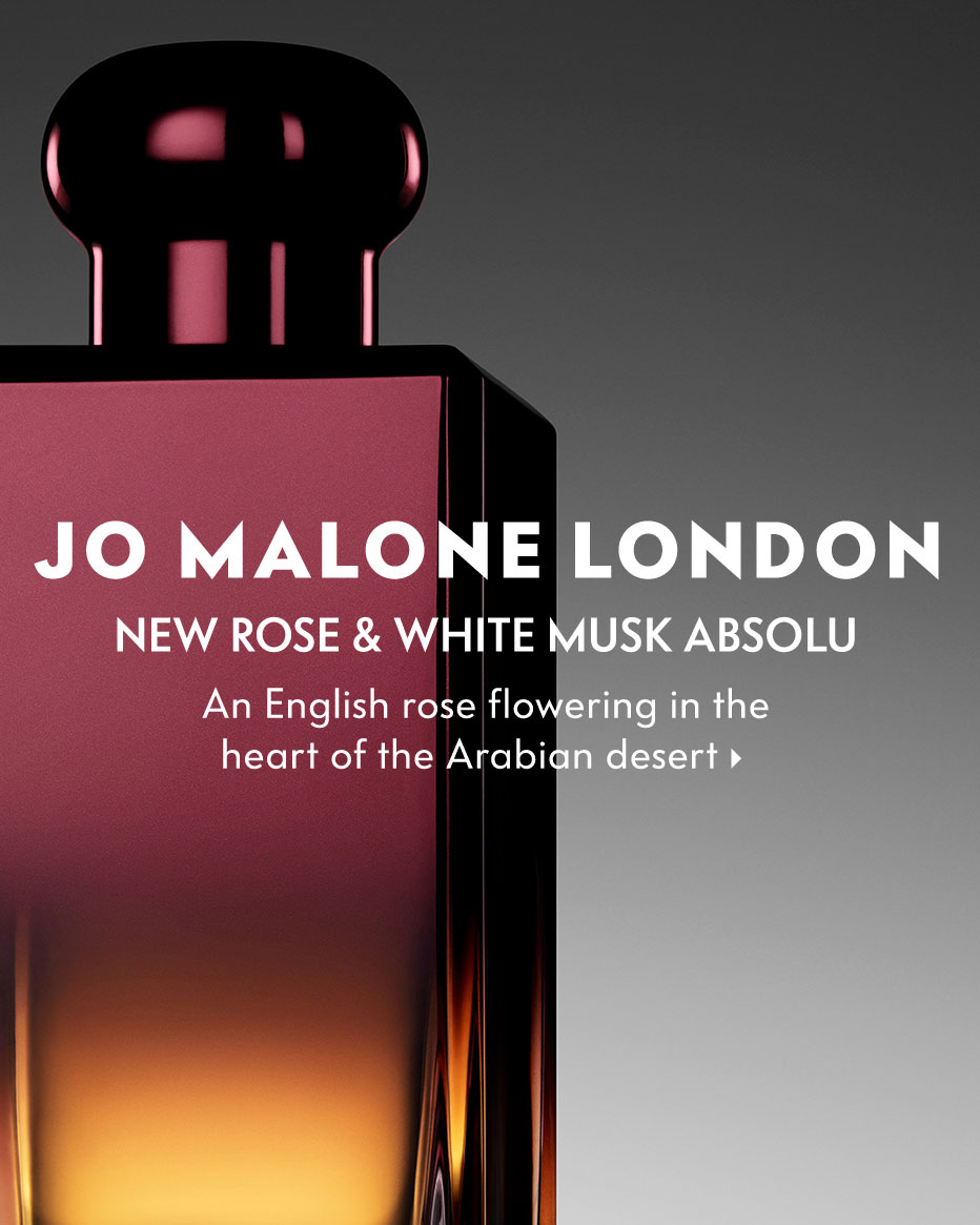 Jo Malone London: New Rose & White Musk Absolu - An English rose flowering in the heart of the Arabian desert