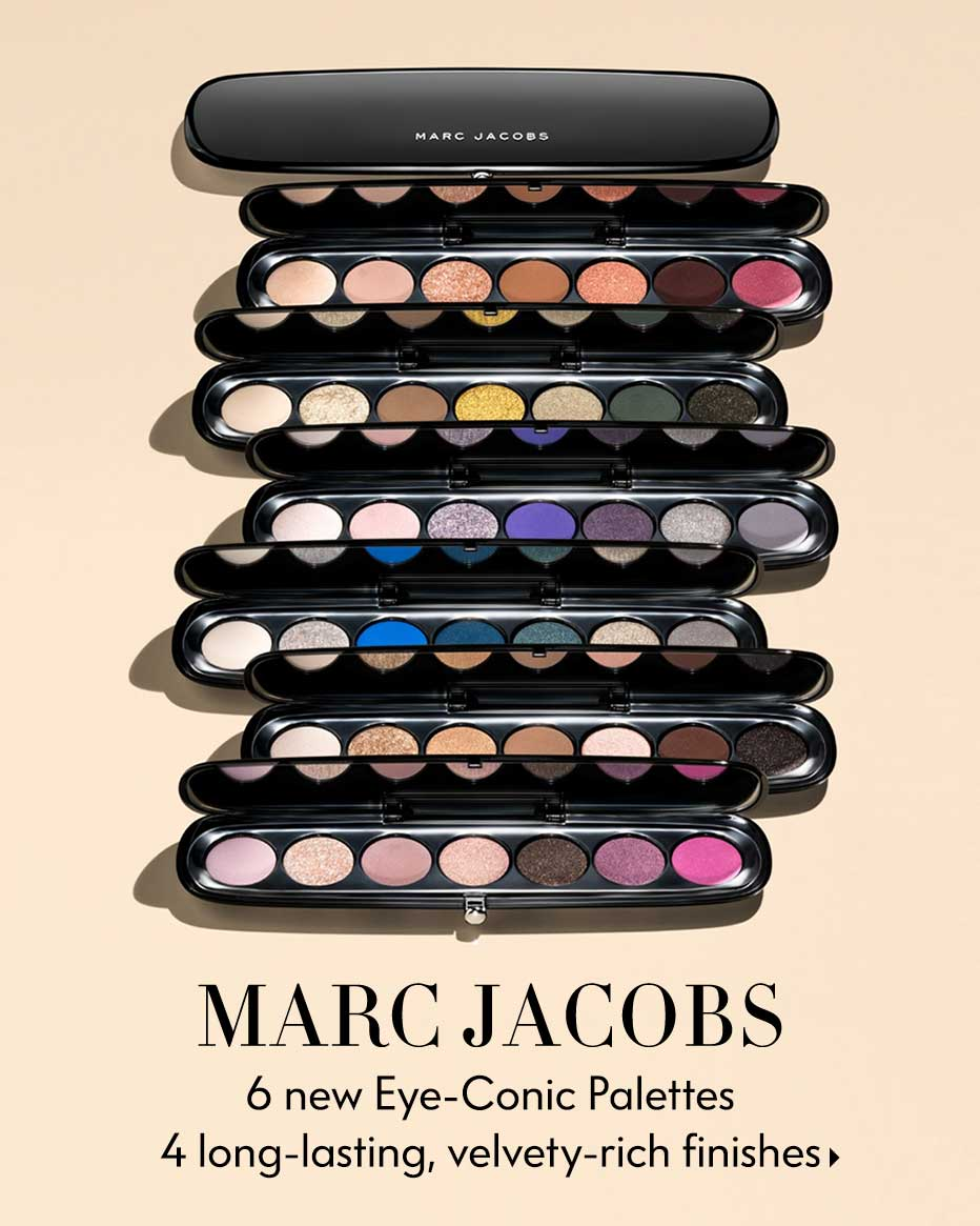 Marc Jacobs - 6 new Eye-Conic Palettes 4 long-lasting, velvety-rich finishes