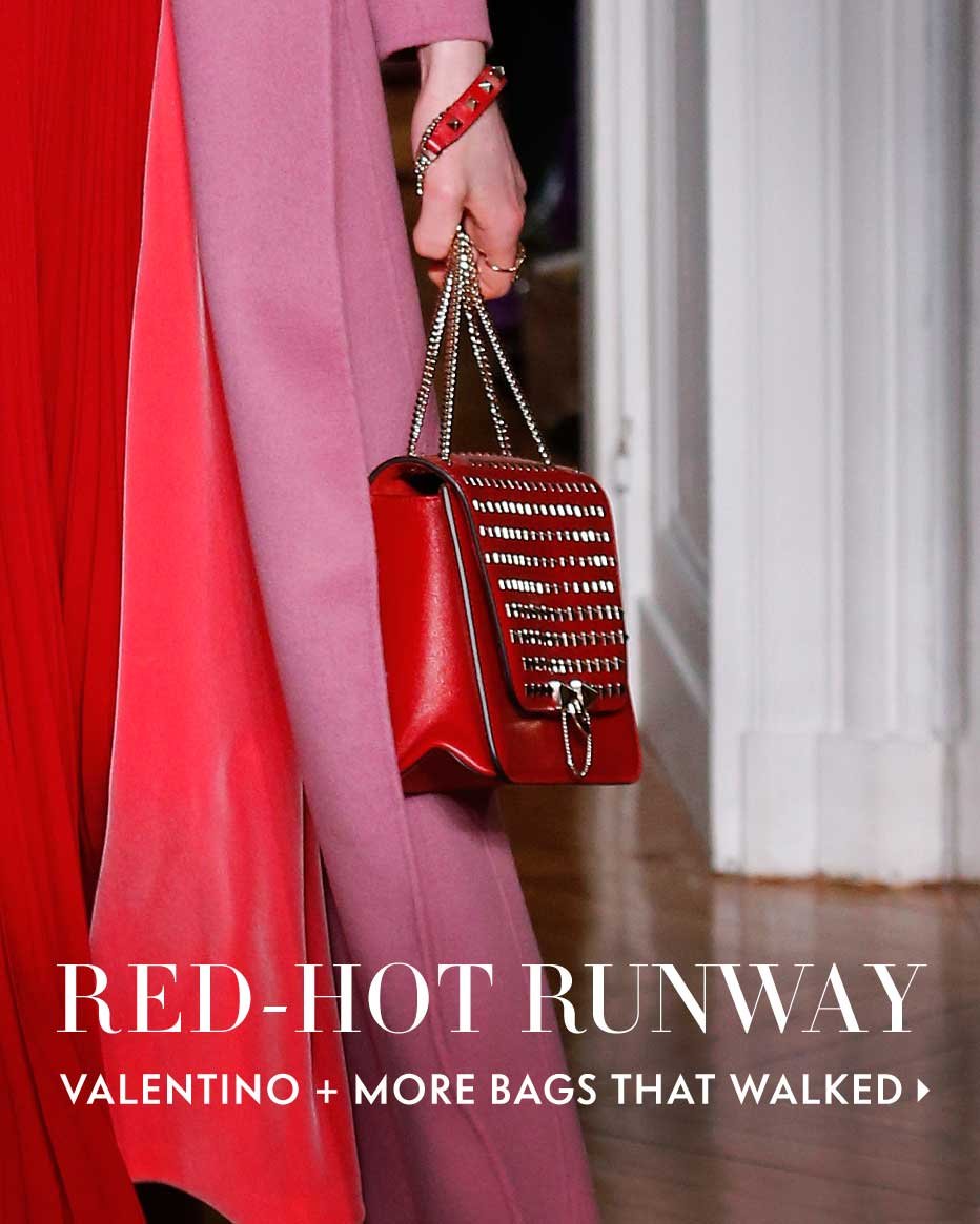 Red-Hot Runway - Valentino + more bags that walked