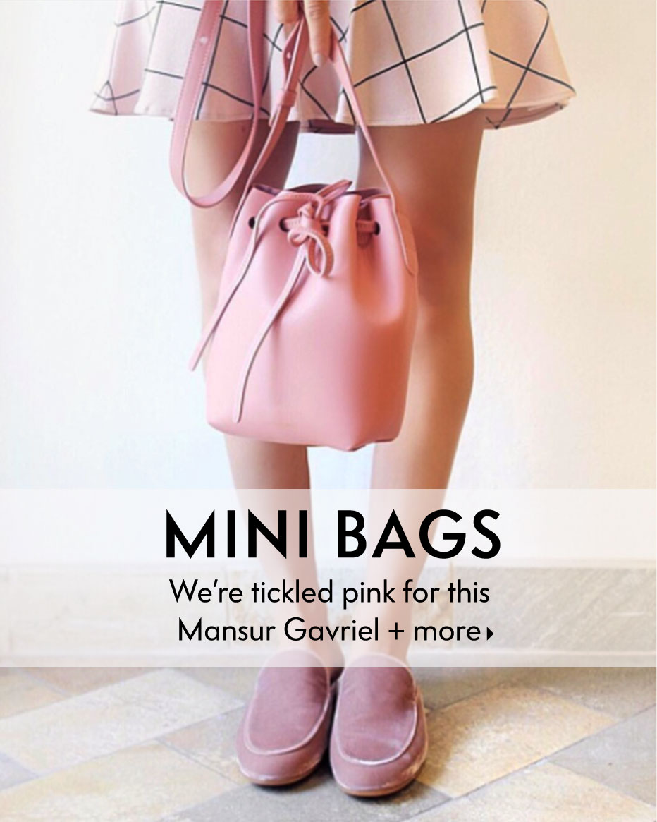 Mini Bags - We're tickled pink for this Mansur Gavriel + more
