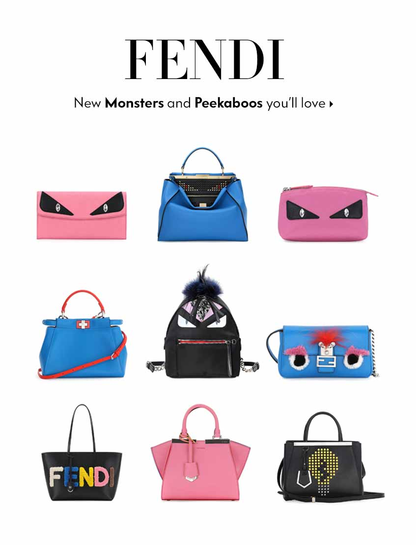 Fendi Monster and Peekabo handbags