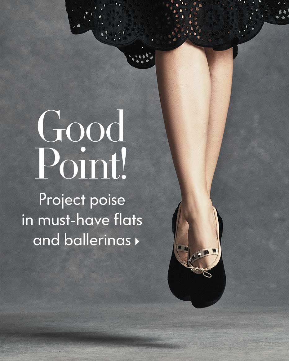Good Point! - Project poise in must-have flats and ballerinas