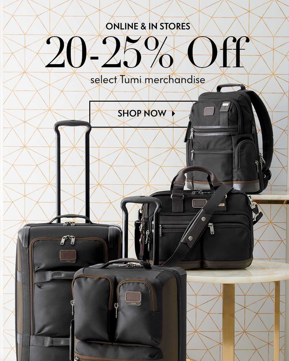 Online & In Stores: 20% Off select Tumi merchandise