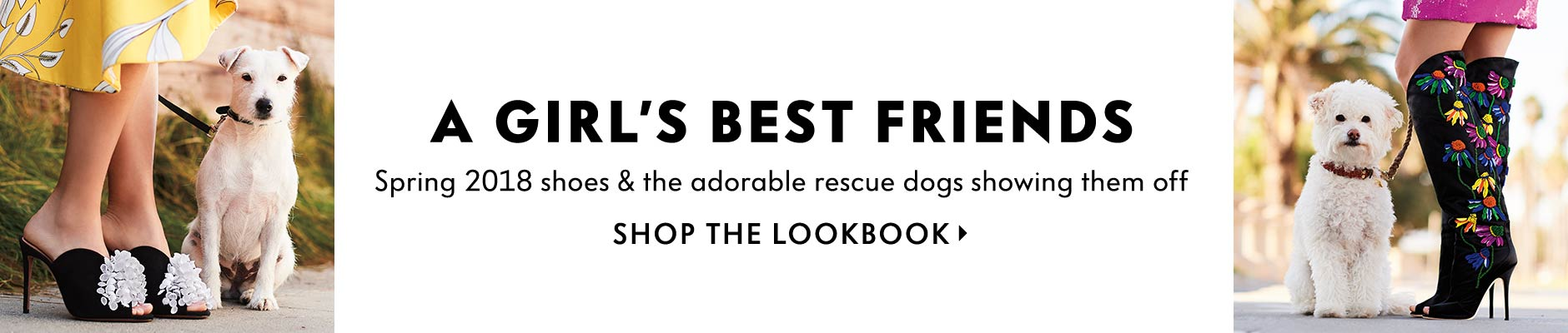 A Girl's Best Friends - Spring 2018 shoes & the adorable rescue dogs showing them off
