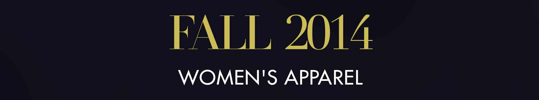 Fall 2014 Womens Apparel