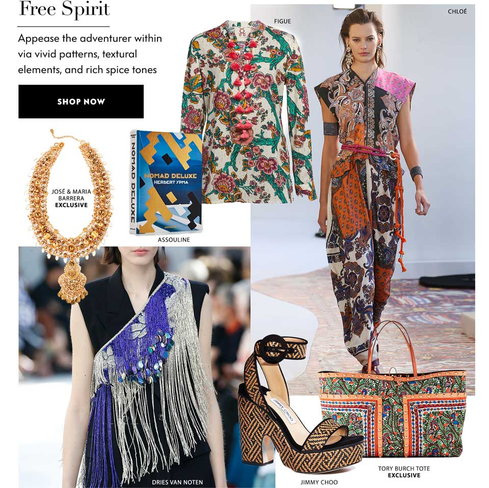 Free Spirit - Appease the adventurer within via vivid patterns, textural elements, and rich tones