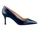 Navy Shimmer Patent Leather