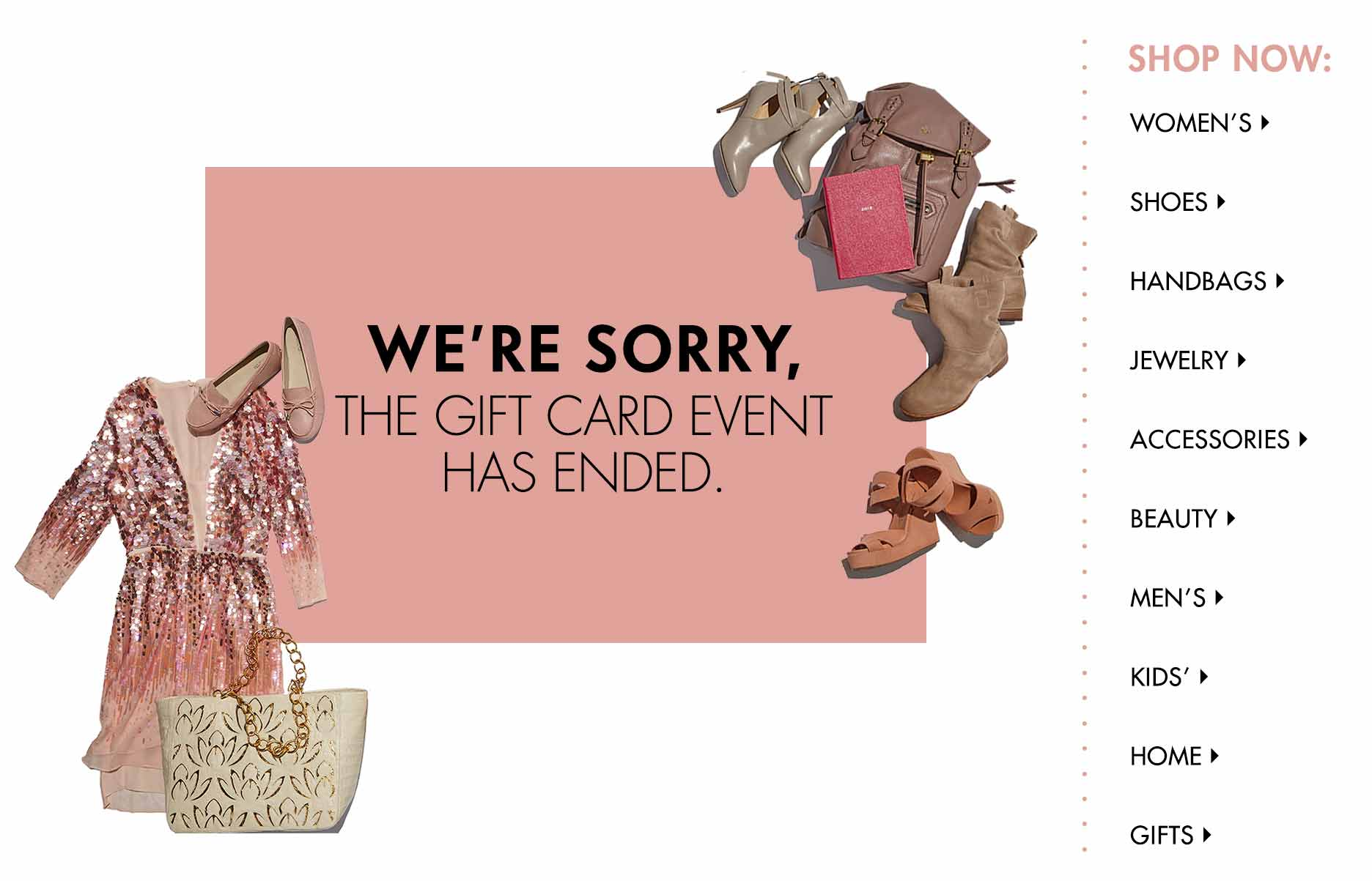 We&#39re sorry, the Gift Card event has ended