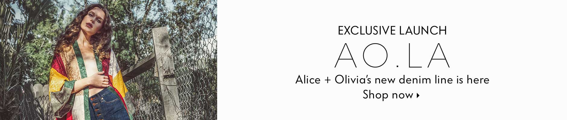 Exclusive Launch: AO.LA - Alice + Olivia's new denim line is here