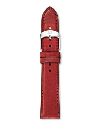 Leather Strap, Red Smooth