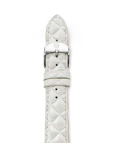 Leather Strap, White Quilted