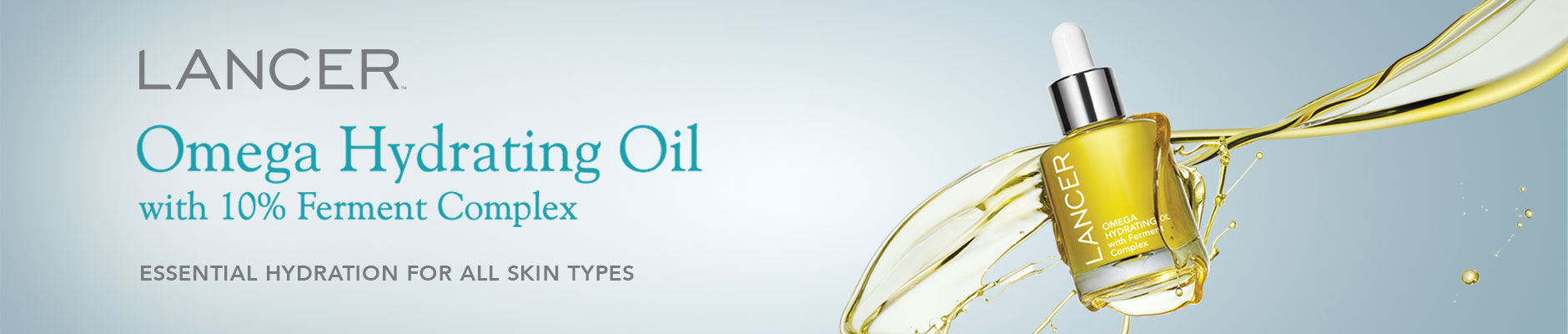 Lancer: Omega Hydrating Oil with 10% Ferment Complex - Essential hydration for all skin types