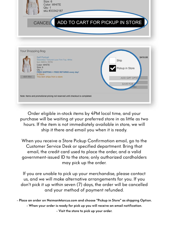 Neiman marcus credit card -  Buy Online Pick Up In Store
