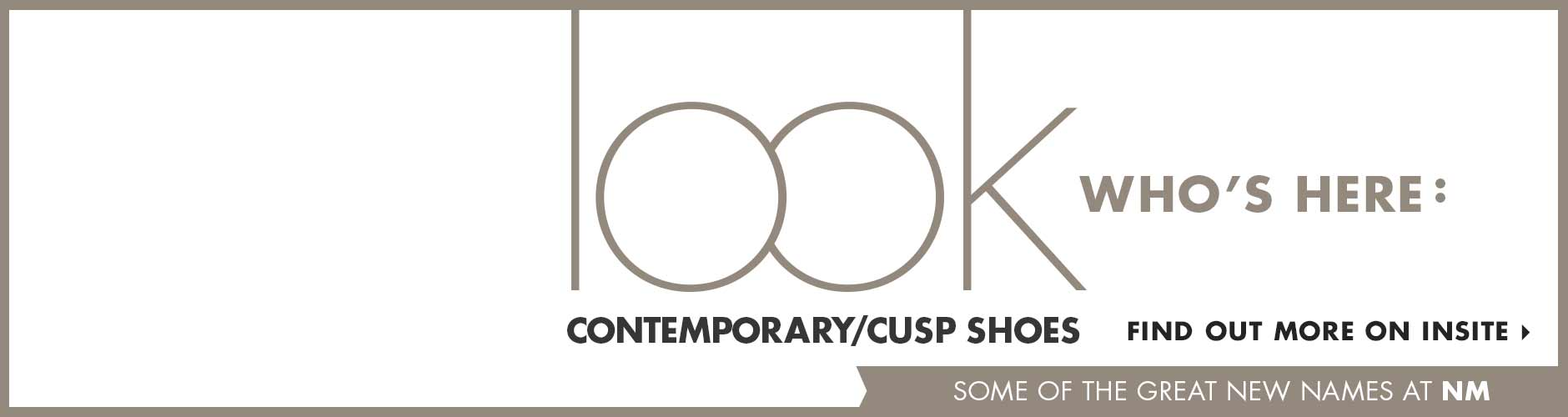Look Who's Here: Contemporary Cusp Shoes