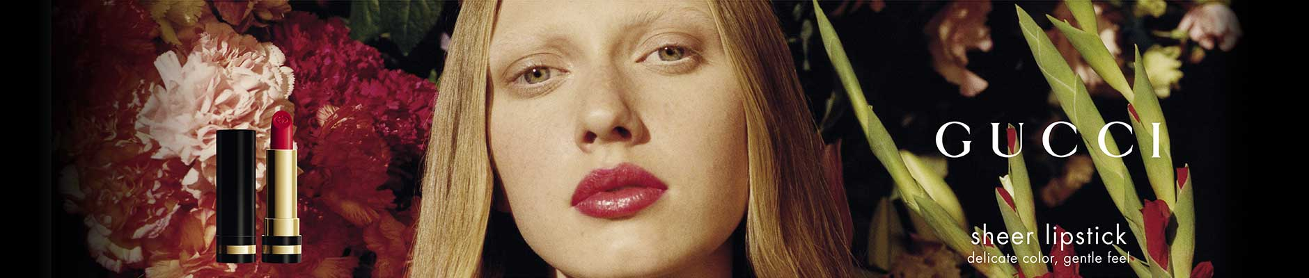 Gucci: sheer lipstick - delicate color, gentle feel