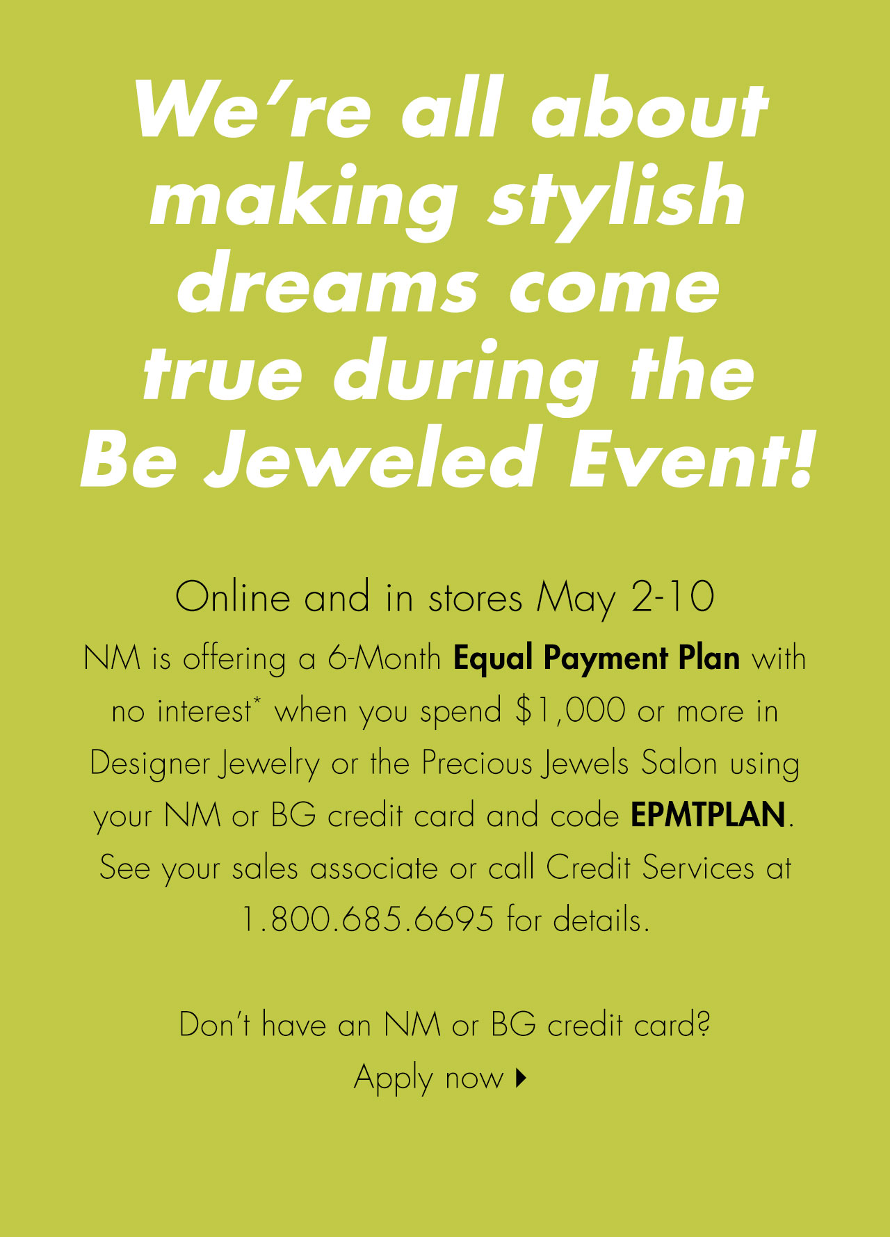 Equal Payment Plans at Neiman Marcus