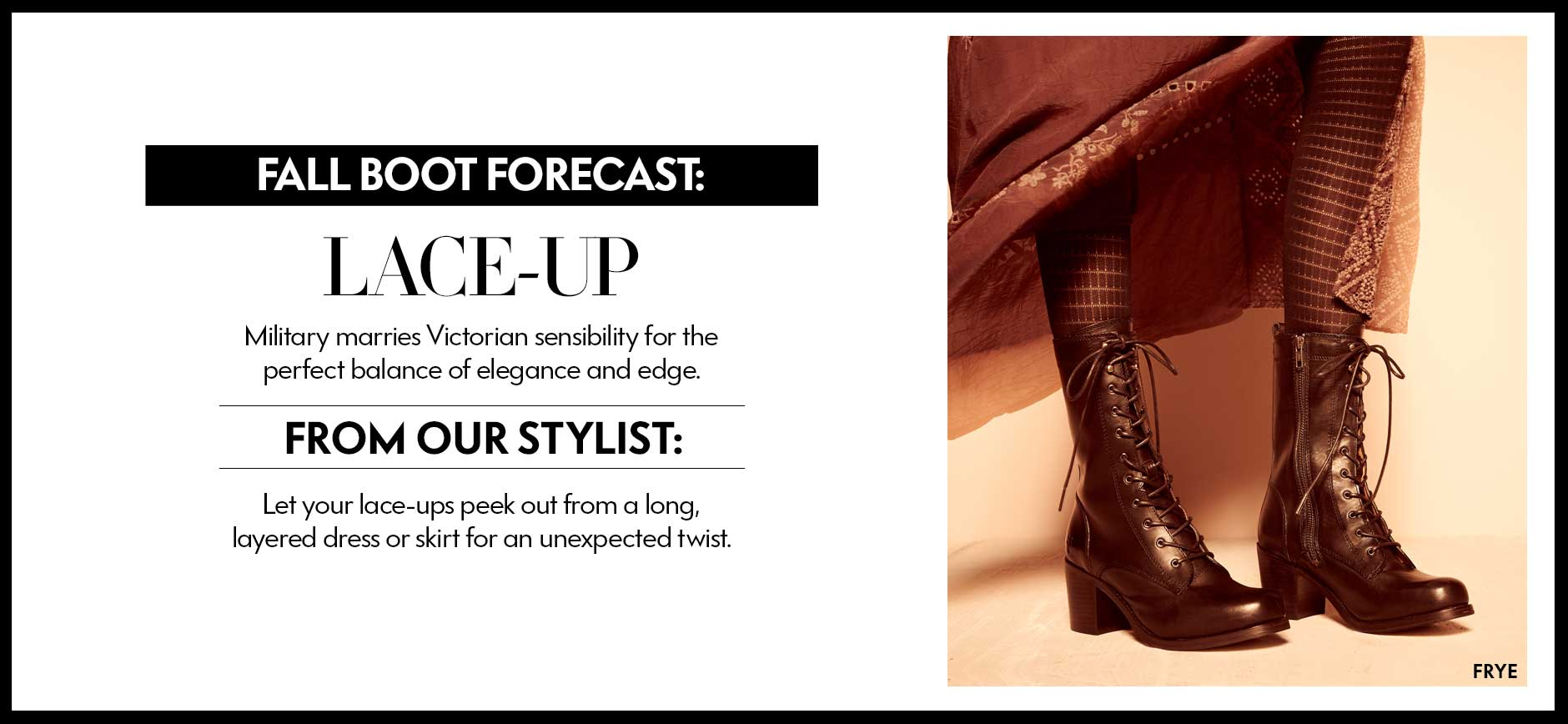 Boot Forecast: Lace Up