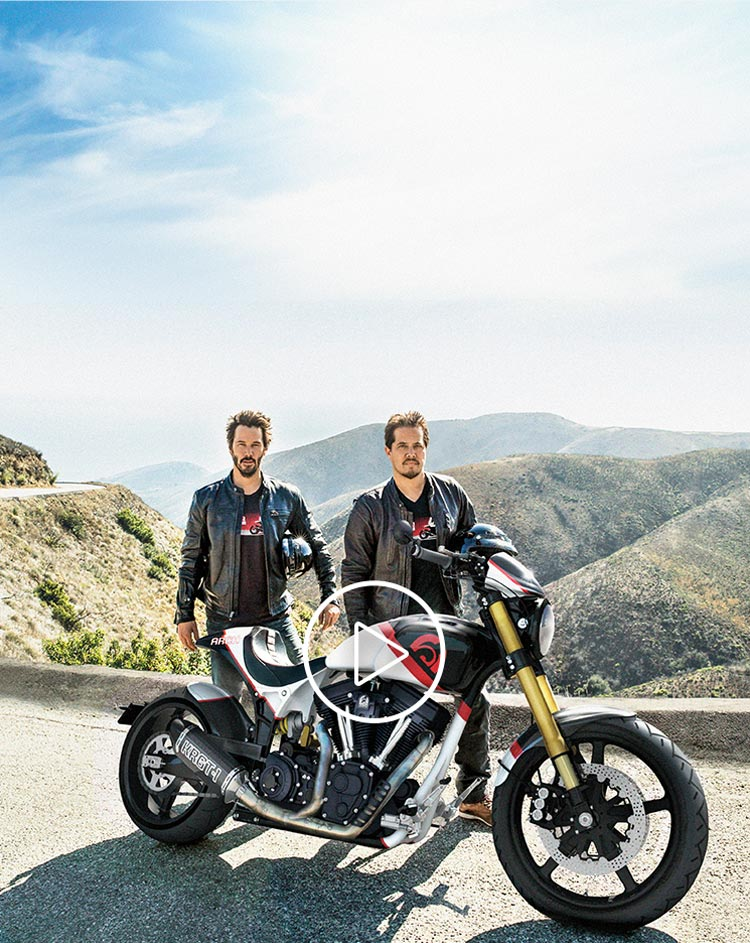 Arch Motorcyle and Ride Experience with Keanu Reeves and Gard Hollinger