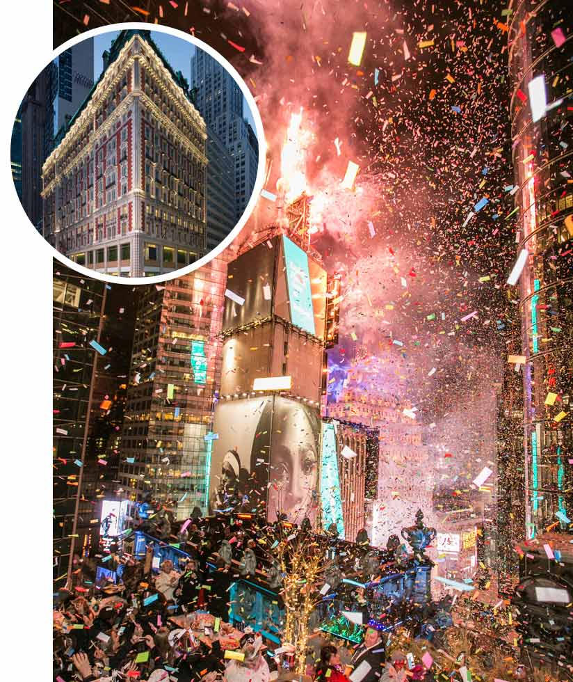 A private New Year's Eve party for 300 above Times Square