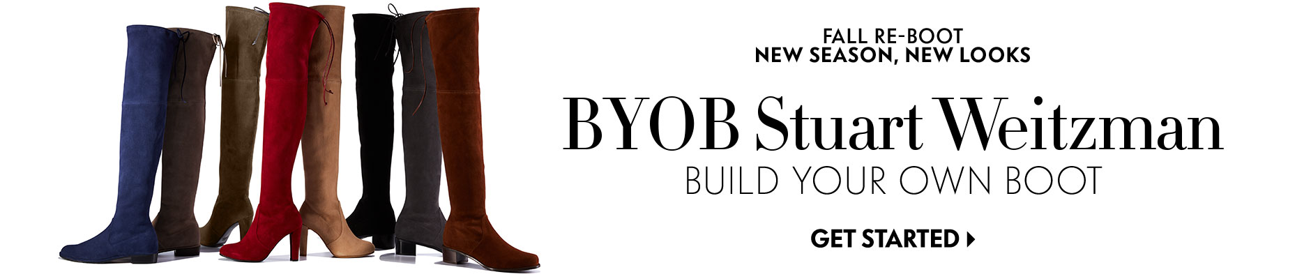 Fall Re-Boot, New Season, New Looks: BYOB Stuart Weitzman - Build Your Own Boot
