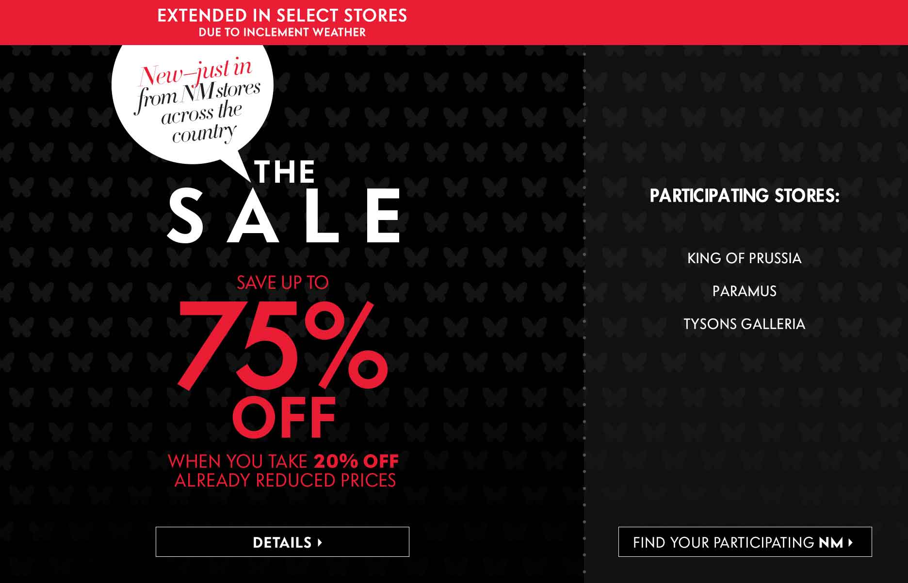 Consolidation Sale Extended at Neiman Marcus