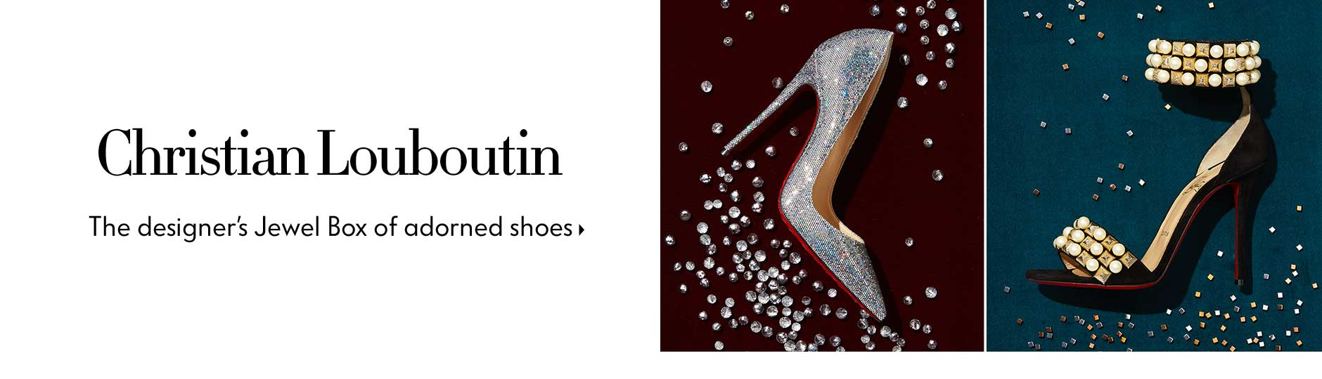 Christian Louboutin - The designer's Jewel Box of adorned shoes
