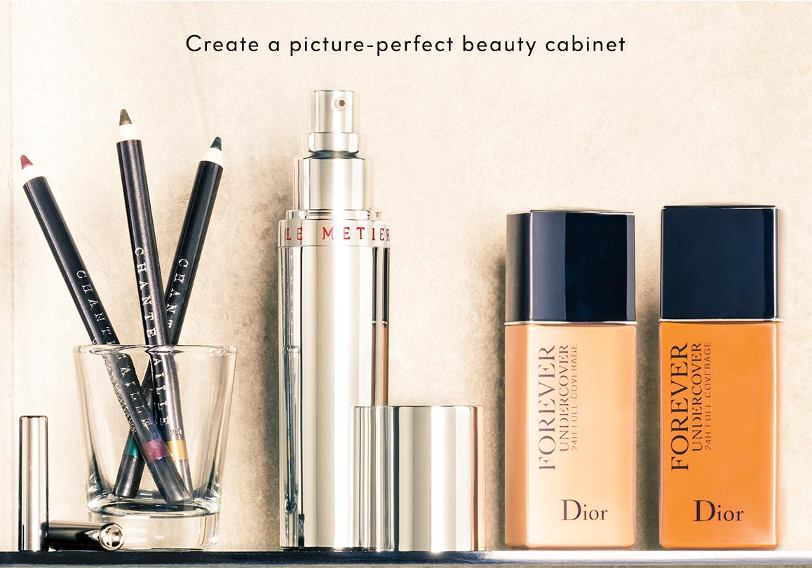 Create a picture-perfect beauty cabinet