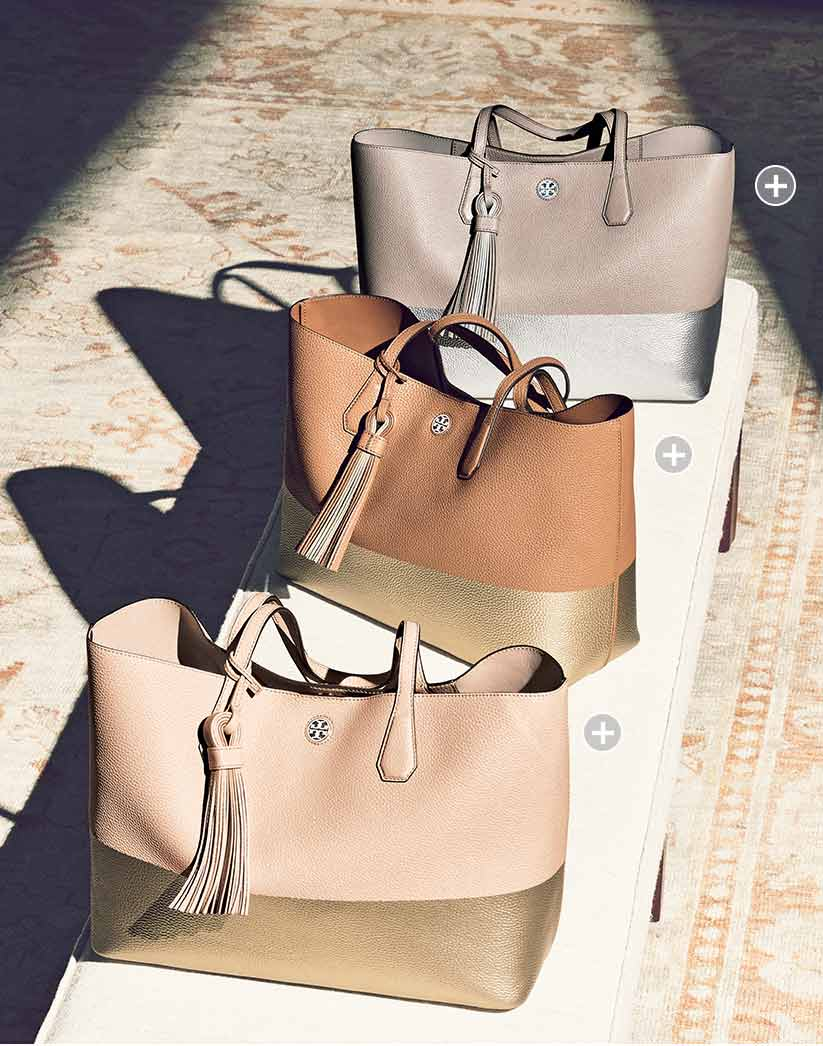 81fbacaf529 Tory Burch Perry Colorblock Leather Totes  ONLYATNM