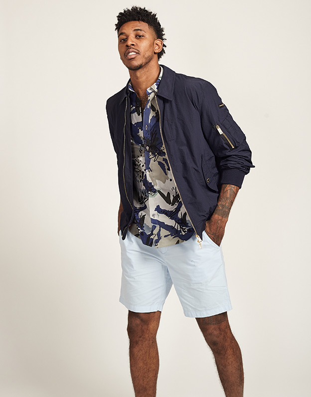 Nick Young in Burberry