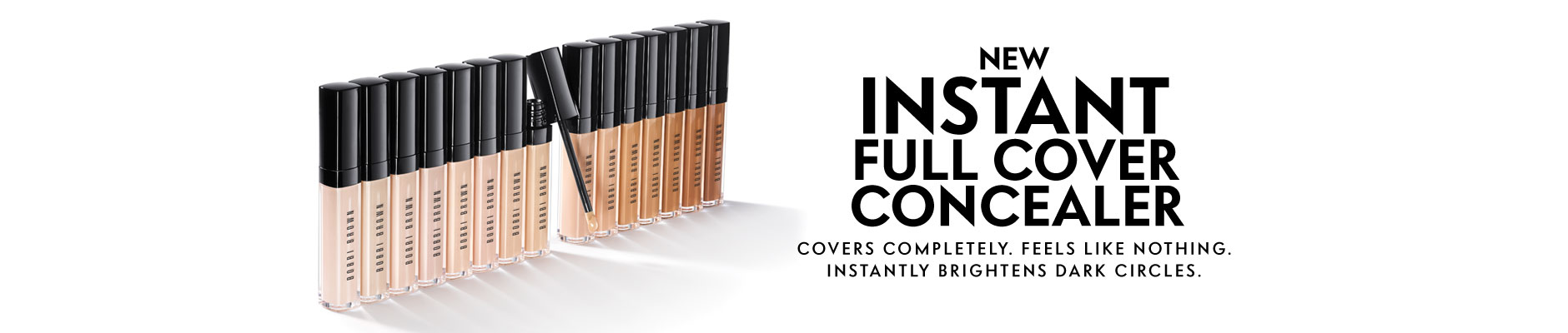 New Instant Full Cover Concealer - Covers completely. Feels like nothing. Instantly brightens dark circles.