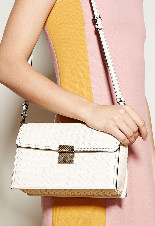 Shop Now Bottega Veneta Intrecciato Leather Padlock Shoulder Bag 0477c6b1502a6