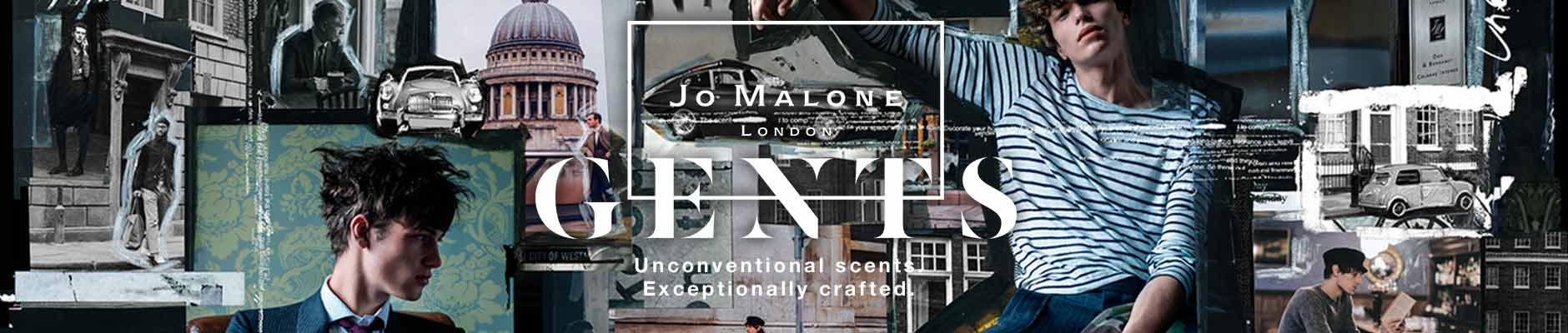 Jo Malone London - Gents, unconventional scents exceptionally crafted.