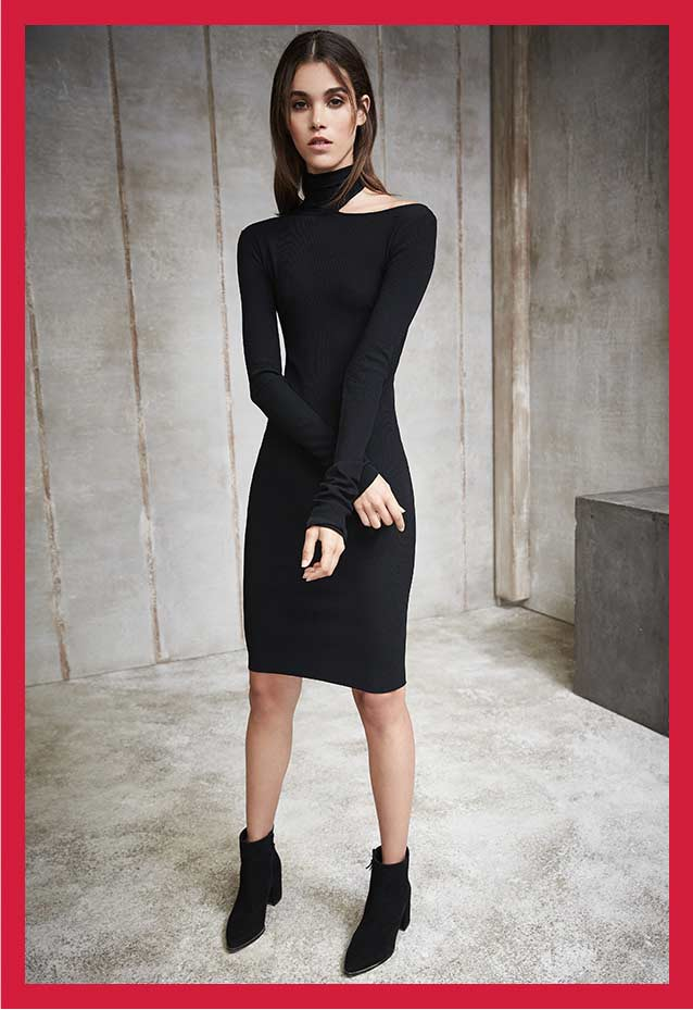 Tie-Back Sweater Dress