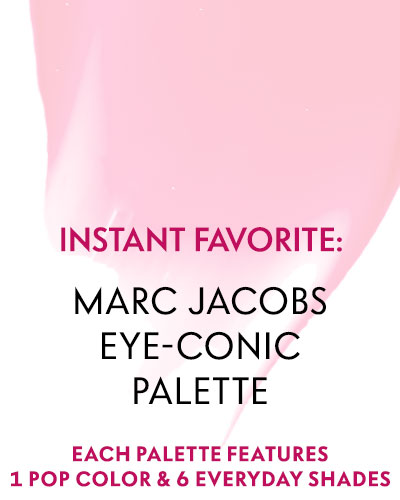 Instant Favorite: Marc Jacobs Eye-Conic Palette - Each palette features 1 pop color & 6 everyday shades